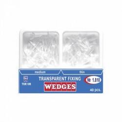 Pene interdentare din plastic transparente 1.810 - TOR VM