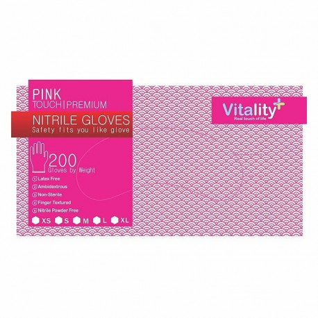 Manusi nitril, Pink Touch, XS, S, M