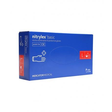 Manusi nitril, Nitrylex, albastre, XS, S, M, L