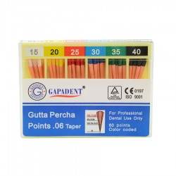 Conuri Gutta Percha .06 15-40, 60 buc