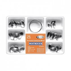 Kit matrici metalice preformate (conturate) asortate 1198, 30 buc, 35-50 microni + inel - TOR VM