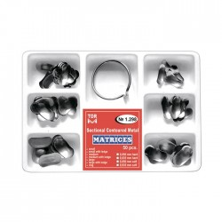 Kit matrici metalice preformate (conturate) asortate 1298, 50 buc, 35-50 microni + inel - TOR VM