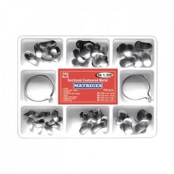Kit matrici metalice preformate (conturate) asortate 1398, 100 buc, 35-50 microni + 2 inele - TOR VM