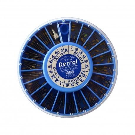 Kit pivoti endodontici Titan, 120 buc - IMD
