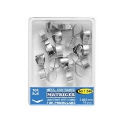 Matrici metalice conturate cu cleme, premolar 1544, 10 buc - TOR VM