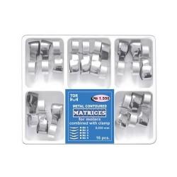 Matrici metalice conturate cu cleme, molar, 1550, 16 buc - TOR VM
