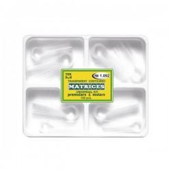 Kit matrici transparente conturate cu cleme, molari, premolari 1092, 120 buc - TOR VM