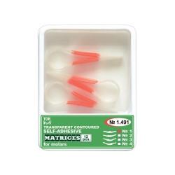 Matrici celuloid conturate autoadezive molari 1491, 12 buc - TOR VM