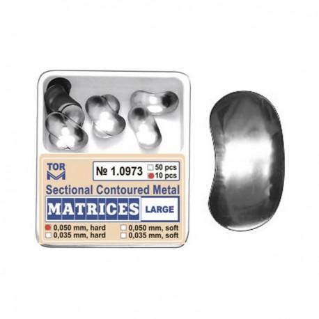 Matrici sectionale metalice conturate mari 10973, 50 buc, 35-50 microni - TOR VM