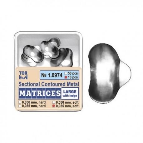 Matrici sectionale metalice conturate mari cu bordura 10974, 10 buc, 35-50 microni - TOR VM