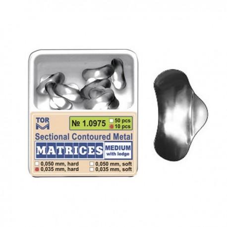 Matrici sectionale metalice conturate, medii cu bordura 10975, 10 buc, 35-50 microni - TOR VM