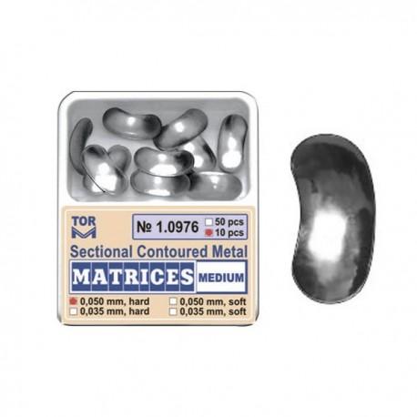 Matrici sectionale metalice conturate medii 10976, 10 buc, 35-50 microni - TOR VM