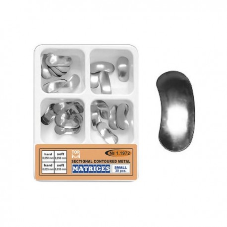 Set matrici sectionale metalice conturate mici 11972, 30 buc, 35-50 microni, hard, soft - TOR VM