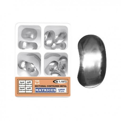 Set matrici sectionale metalice conturate mari 11973, 30 buc, 35-50 microni, hard, soft - TOR VM