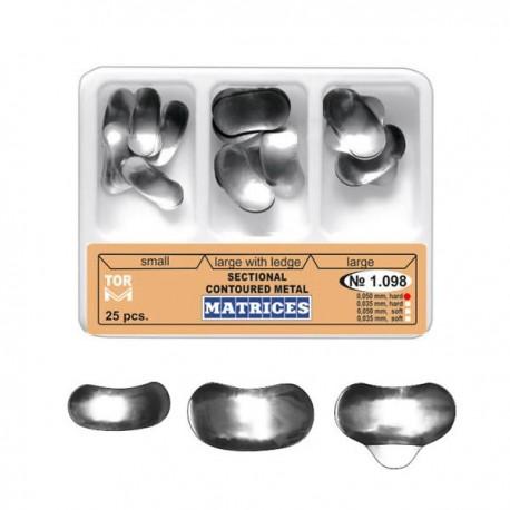 Kit matrici metalice preformate (conturate) asortate 1098, 25 buc - TOR VM