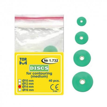 Discuri abrazive verzi, conturare, medium 1732 40 buc - TOR VM