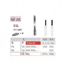 Freze extradure fisura cu gat lung piesa cot 31L 012 - Diaswiss