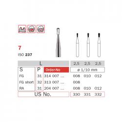 Freza extradura turbina tip para 7 010 - Diaswiss