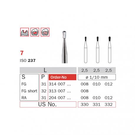 Freze extradure turbina tip para 7 010 - Diaswiss