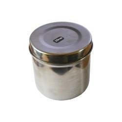 Cutie rotunda sterilizare, autoclavabila, inox 10 cm